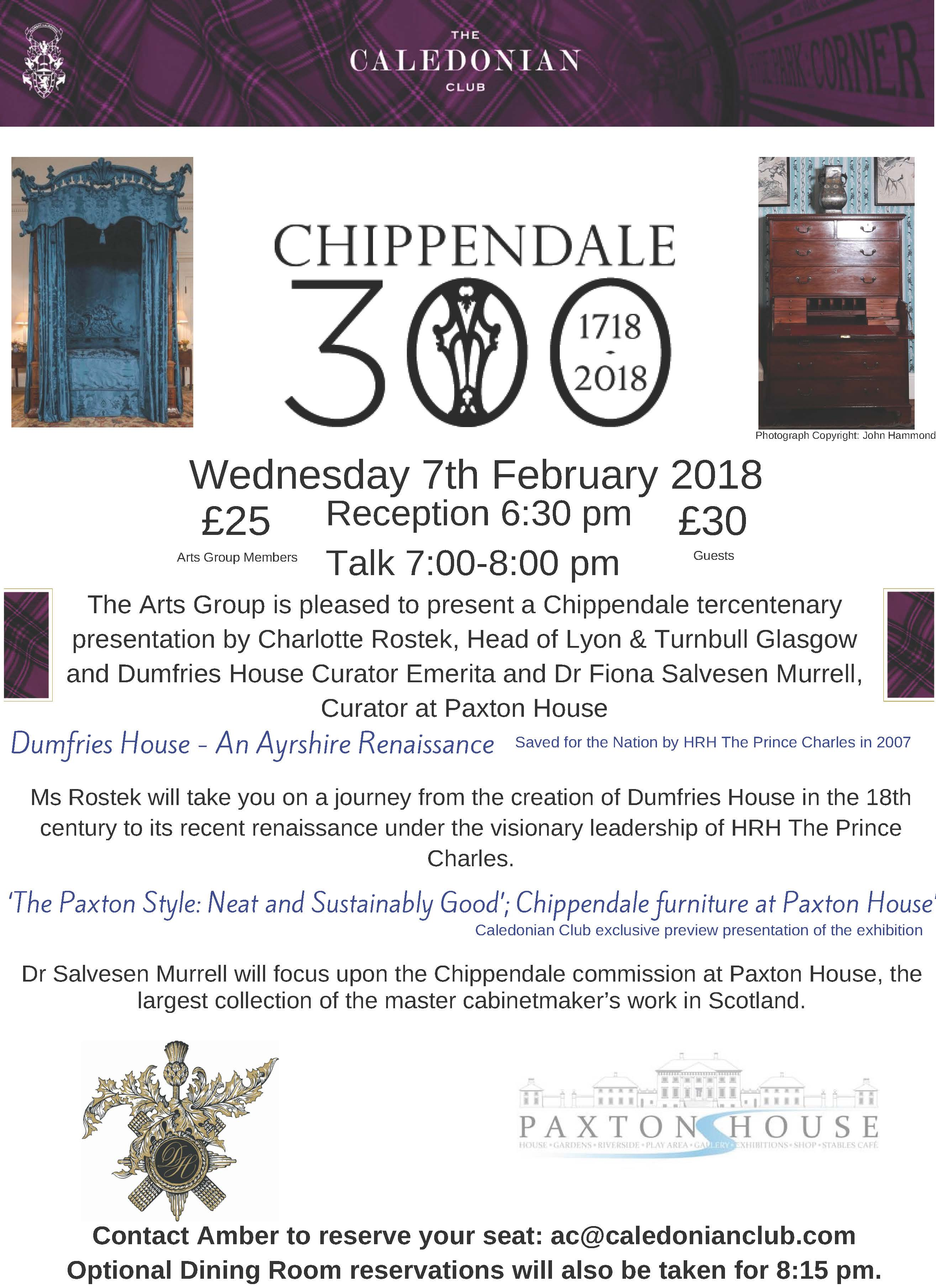 Chippendale tercentenary presentation at The Caledonian Club